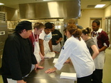 Students take advice from master, Chef. Lisa Amoriello.