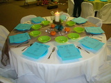 A table setting done during our catering event at Mansfield  Church of Christ Womens Retreat.